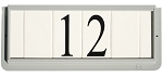 4 Inch House Numbers on Ceramic Tile in Gray Frame