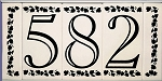 Ceramic House Numbers with Frame, Open Classic