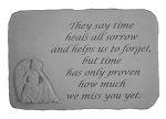 They Say Time Heals Memorial Stone With Angel
