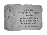 Someday We Hope To Meet Memorial Stone with Standing Angel