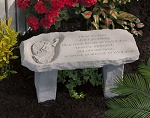 Angel Memorial Bench - Those We Love..