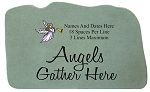 Personalized Memorial Stone With Angel - Angels Gather