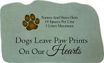 Personalized Memorial Stone With Paw Print - Dogs Leave Paw Prints On Our Heart