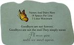 Goodbyes Personalized Memorial Stone With Butterfly