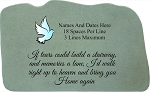 If Tears Personalized Memorial Stone With Dove