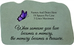 When Someone Personalized Memorial Stone With Butterfly