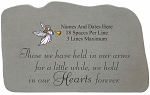 Those We Have Held Personalized Memorial Stone With Angel