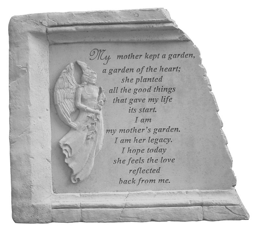 Framed Memorial Stone My Mother Kept A Garden