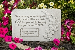 Personalized Memorial Stone - Your Memory Is My Keepsake, Cast Stone