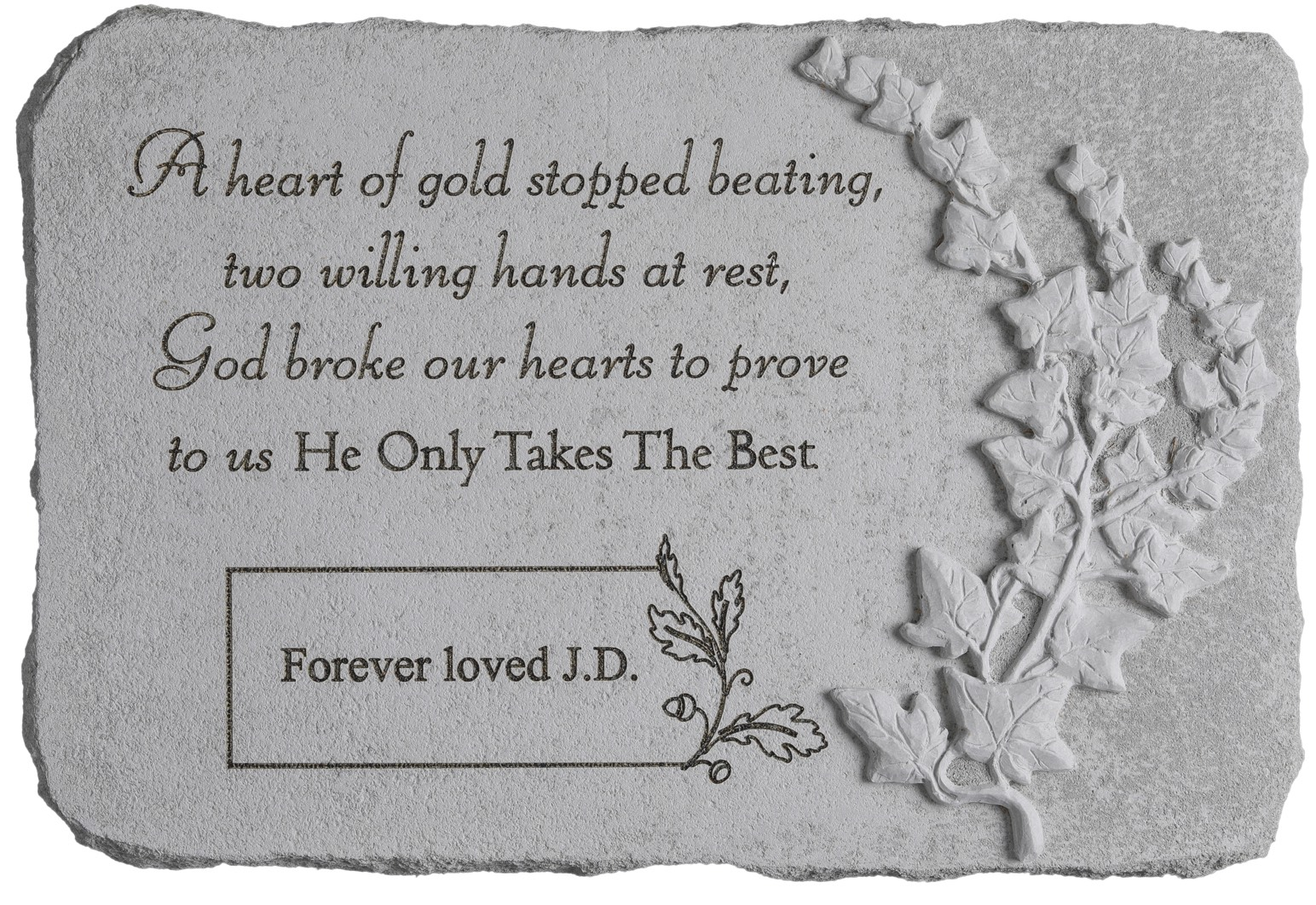 A Heart of Gold Stopped Personalized Memorial Stone