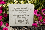 Although Your Smile is Gone Personalized Memorial Stone