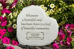 Wherever a Beautiful Soul Personalized Heart-Shaped Memorial Stone