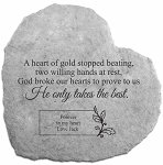 A Heart of Gold Stopped Memorial Stone