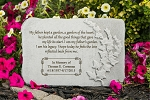 Personalized Memorial Stone - My Father Kept A Garden, Cast Stone