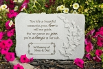 Personalized Memorial Stone - You Left Us Beautiful Memories, Cast Stone