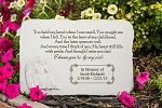 You Held My Hand Personalized Memorial Stone with Angel