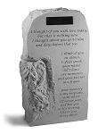 Angel Memorial Stone, Upright, Personalize - I Thought Of You