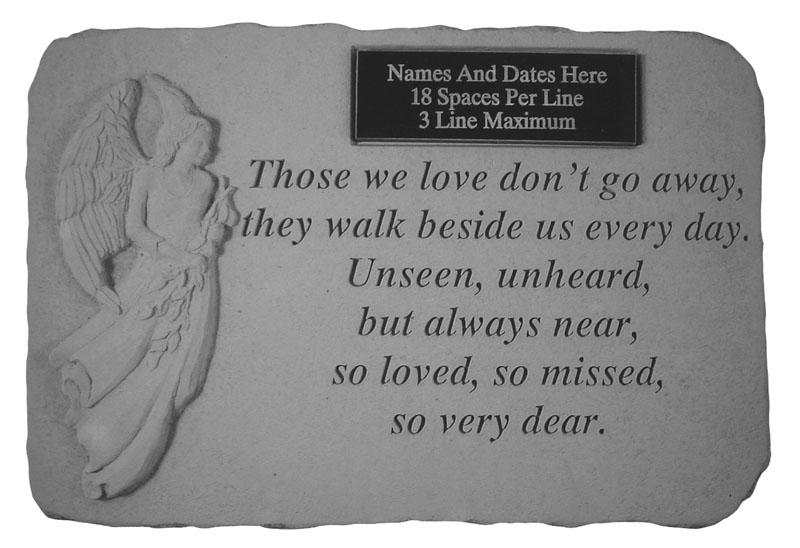 Those We Love Personalized Memorial Stone with Standing Angel