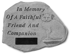 Personalized Cat Memorial Stone - In Memory Of..