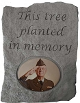 This Tree Planted in Memory Photo Memorial Stone