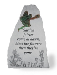 Garden Stone - Garden fairies Come At Dawn..