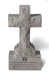 Cross Sculpture on Base, 15 Inches If Tears Could Build..