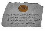 Memorial Stone With Symbol - The Golden Gates Stood Open..