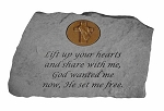 Garden Stone With Symbol - Lift up Your Hearts..