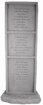 Memorial Stone Upright I Thought Of You