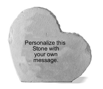 Personalized Heart-shaped Stone, Custom
