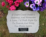 Personalized Memorial Stone - If Tears Could Build..
