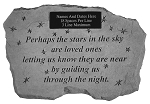 Perhaps The Stars In The Sky Personalized Memorial Stone