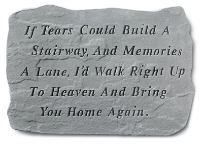 If Tears Could Large Memorial Stone