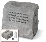 Gone Yet Not Forgotten Pet Memorial Stone With Urn