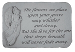 Memorial Stone - The Flower We Place..w/Angel..