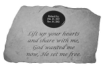 Lift Up Your Hearts Personalized Memorial Stone