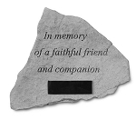 In Memory Of A Faithful Friend Personalized Pet Memorial Stone