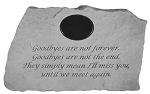 Goodbyes Are Not Forever Personalized Memorial Stone
