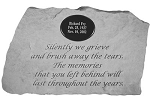 Personalized Memorial Stone - Silently We Grieve..
