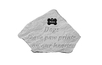 Dogs Leave Pawprints with Bone Personalized Memorial Stone