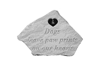 Personalized Memorial Stone - Dogs Leave Pawprints w/Heart
