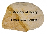 Personalized Stone, Carved WhiteStone, Large