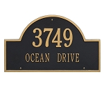 Arch Address Plaque for Businesses Standard Size