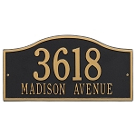 Rolling Hills Address Plaque Wall 2 Line