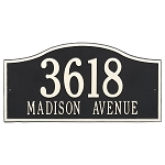 Rolling Hills Address Plaque Grand Wall 2 Line