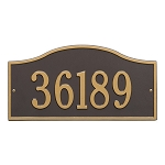 Rolling Hills Address Plaque Grand Wall 1 Line