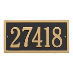 Bismark Address Plaque Wall 1 Line