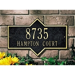 Hampton Address Plaque Wall 2 line