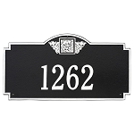 Monogram Address Plaque Estate Wall 1 Line