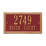 Double Line Address Plaque Wall 2 Line